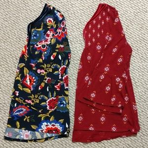 2-Girl's Bell Sleeve Shirts